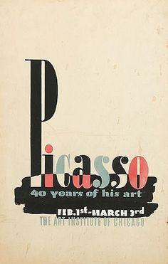 By David Shubow (1913-1998), ca. 1940, Picasso 40 Years of his art, Gouache and pencil on illustration board.