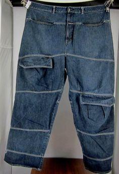 403b23d58b Marithe Francois Girbaud Men s Blue Jeans Baggy Loose Hip Hop 42x33 100  Cotton