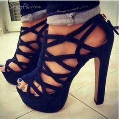 18c454cd1491 shoes black high heels black high heels high heels chaussures talons hauts  talons bleu beautiful shorts blue high heels cut-out black shoes black  platform ...