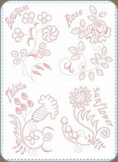 Candlewick Embroidery Free | ... Embroidery Designs :: Affordable :: Great Quality :: Candlewick Set 4