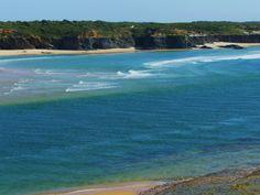 Vila Nova de Milfontes Alentejo Portugal Portugal Destinations, Sea Activities, Western World, Sunny Beach, Spain And Portugal, Atlantic Ocean, Portuguese, Places To Go, Surfing