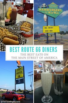 Visit the best Route 66 diners with this guide! Map included! #route66 #wheretoeatroute66 #roadtrip