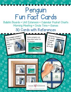 Penguin Fun Facts Cards introduce learners to the amazing world of penguins. I discovered so many fascinating facts while researching these penguin facts for kids and I know you and your learners will enjoy them! See the Product Description below and the Product Gallery for...