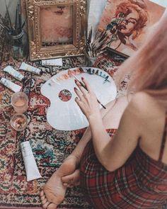 Artist Life, Artist At Work, Artist Aesthetic, Art Hoe, Jolie Photo, Art Studios, Art Inspo, Art Drawings, Art Photography