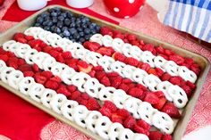 of July Buffet Rachel Hollis Blue Desserts, 4th Of July Desserts, Fourth Of July Food, 4th Of July Celebration, 4th Of July Party, July 4th Appetizers, Buffet Dessert, Party Buffet, White Chocolate Covered Pretzels