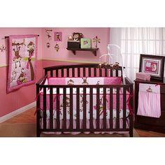 Little Bedding by NoJo 3 Little Monkeys 10pc Nursery in a Bag Crib Bedding Set, Girl, Multicolor