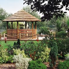 How stunning is this garden featuring our Safari Breeze House? Enjoy your garden all year round with your very own Breeze House garden building, view our full range online. Small Gazebo, Hot Tub Gazebo, Small Bar Areas, Wooden Gazebo, Toddler Table And Chairs, Built In Bench, Garden Buildings, Garden Features, Eclectic Decor