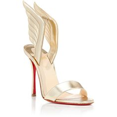 Christian Louboutin Women's Samotresse Sandals ($895) ❤ liked on Polyvore featuring shoes, sandals, christian louboutin sandals, red sole shoes, leather high heel sandals, christian louboutin shoes and high heel shoes