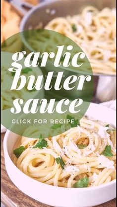 Super EASY recipe ready in just 15 minutes · Vegetarian · Serves 4 · GARLIC B. Butter Sauce For Pasta, Garlic Butter Sauce, Garlic Butter Noodles, Easy Pasta Sauce, Dinner Recipes Easy Quick, Easy Meals For Kids, Easy Dinners, Recipes Dinner, Vegetarian Recipes