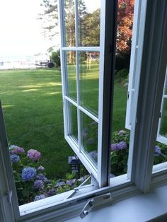 Casement Windows With Stays And Latches Instead Of Cranks
