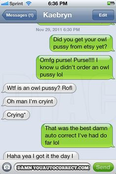 funny auto-correct texts - Etsy Has Everything These Days