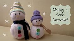 snowman made with a sock - YouTube