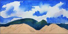White Mountains. 4 x 8 in. watercolor on Arches 140 lb. cold pressed paper. © 2017 Sheila Delgado