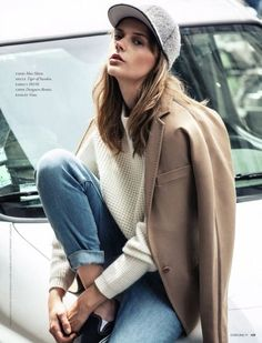 LA COOL & CHIC//wooly hat & reflective underbrim