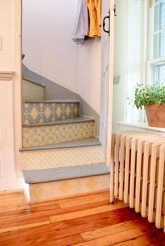 painted/wallpapered stairs
