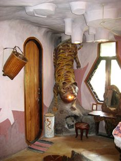 Each of the trippy guest rooms at Crazy House is built around a different animal theme.