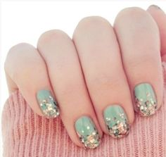 Top 2013 Minty Green Nail Art Design