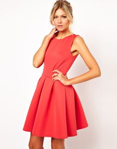 sweet skater dress. so in love with this color!
