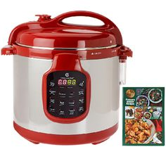 A faster multitasker. Whip up mouthwatering meals in no time with this Cook's Essentials(R) 6-quart stainless steel pressure cooker. Its simple, multifunction panel puts you in control with 11 adjustable pressure settings and modes, so you can cook chicken, roasts, stews--even desserts--quickly and easily. Plus, this pressure cooker isn't the only multitasker--imagine all the things you could be doing while dinner cooks itself--including navigating the 40-recipe booklet for your next…