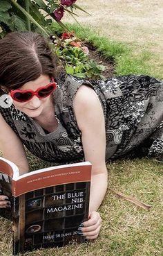 """We love this photo of contributor, Melissa Todd, enjoying issue 38 of The Blue Nib in Ramsgate. Poetry, Twitter, Blue, Fashion, Moda, Fashion Styles, Poetry Books, Fashion Illustrations, Poem"