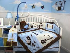 cool-design-baby-room-ideas-white-black-colors-baby-crib-white ...