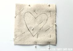Simple Fabric Heart Coasters Tutorial