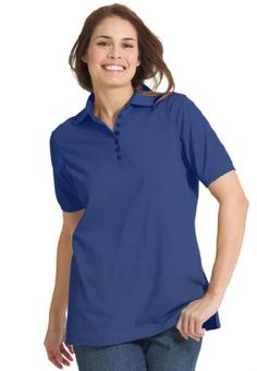 Plus Size Top, Perfect Polo Short-Sleeve T-Shirt  Camisa polo classica