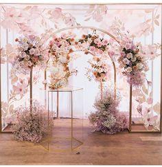 Wedding Backdrop Design, Wedding Reception Backdrop, Floral Backdrop, Wedding Stage, Dream Wedding, Wedding Decorations, Pastel Wedding Theme, Wedding Flowers, Boquette Flowers