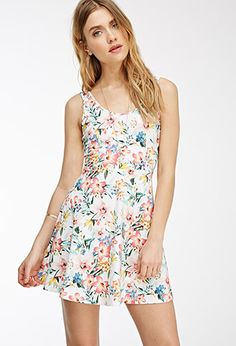 Floral Print Lace-Paneled Dress | FOREVER21 | #thelatest