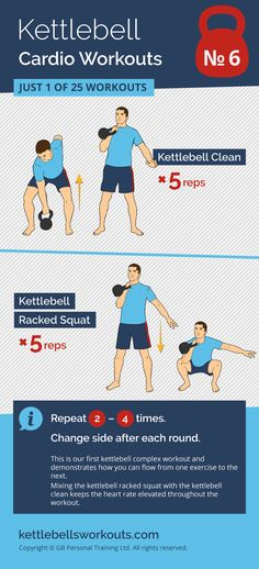 1 of 25 kettlebell cardio workouts that will activate over 600 muscles as well as improving your cardio. #kettlebell #fitness #exercise #kettlebellworkout https://www.kettlebellmaniac.com/kettlebell-exercises/