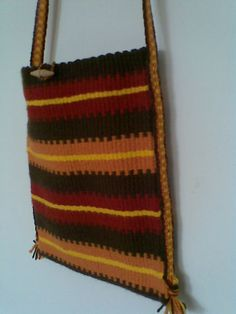 Weaving - Szőttes tarisznya, bohém stílusban - Weaved bag, bohem style - Zentai Anna - www.zentaianna.hu