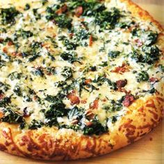 Spinach and Pepper-Jack Pizza
