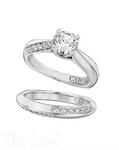 Caro 74  Style: CR116W  14KT WHITE GOLD CARO74 0.20 DTW ENGAGEMENT RING *Platinum Die Struck peg setting *Many alternate head possibilities *classic pave diamond setting *pierced french back *flush set kiss diamond.