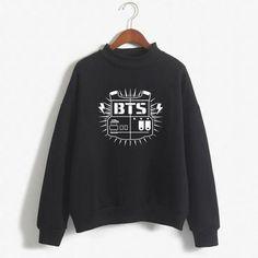 6174d90589f 2018 BTS Hoodies Moletom BT21 Hoodie Sweatshirt Women Harajuku Long Sleeved  Pullovermodkily Casual Outfits