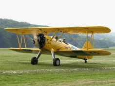 The Stearman (Boeing) Model 75 is a biplane used as a military trainer aircraft, of which at least 10,626 were built in the United States during the 1930s and 1940s.  In the immediate postwar years they became popular as crop dusters, sports planes, and for aerobatic and wing walking use in air shows.