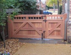 Steel Metal Gate With Wooden Fence Boards Home Remodel