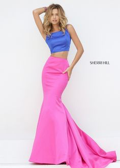Sherri Hill 50466 Royal Two Piece Prom Dress Sherri Hill Prom Dresses Short, Prom Dresses For Sale, Evening Dresses, Pink Formal Dresses, Slip Dresses, Long Dresses, Pretty Dresses, Prom Dress 2014, Cocktail Dress Prom