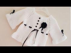 muhteşem yemekler,tarifler,örgüler,kazaklar,desenler,tatlılar ve hayata dair herşey Knitted Baby Cardigan, Knit Baby Sweaters, Knitted Coat, Crochet Doily Patterns, Baby Knitting Patterns, Baby Patterns, Crochet Baby Clothes, Crochet Baby Shoes, Knit Crochet