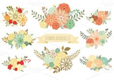 Check out Flowers Bouquet II (vector set) by Delagrafica on Creative Market