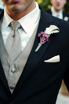 Striking formal look for a groom