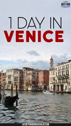 Discover what to do in Venice, Italy with only one day to explore. If you're traveling to Venice and have limited time check out these things to do in Venice. #Venice #Italy #Italytravel #travel #Europe #Europetravel