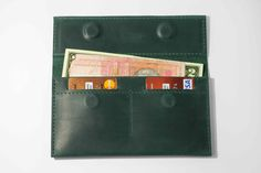 Emerald Green (Mint) Wallet, Card Holder, Cool Slim Mens Wallets, Minimalist Design, Leather Money Clip, Womens, Ladies, Engraved Gift Ideas by MereLeather on Etsy