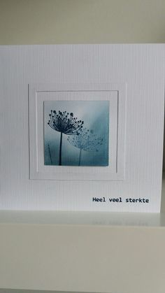 Cool Cards, Diy Cards, Sympathy Cards, Greeting Cards, Dandelion Wish, Handmade Birthday Cards, Watercolor Cards, Distress Ink, Flower Cards