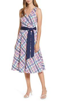 Sleeveless Belted Fit & Flare Midi Dress Full Midi Skirt, Poplin Dress, Nordstrom Dresses, Bodice, Flare, Summer Dresses, Skirts, Fit, Smooth