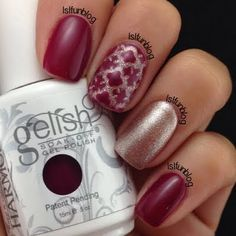 Quatrefoil pattern adorns this elegant gel manicure. Get inspired with this creative nail art with these essentials listed.