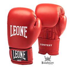 """Gants de boxe Leone 1947 """"Contest"""" Rouge http://www.barbariansfightwear.com/fr/gants-de-boxe-/514-gants-de-boxe-leone-1947-contest-rouge.html"""