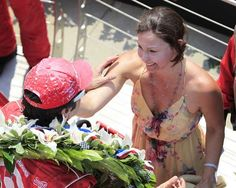 Actress Ashley Judd cries after kissing her husband, Dario Franchitti, in Victory Lane after winning the Indy 500. The 96th Indianapolis 500 race was held at the Indianapolis Motor Speedway Sunday, May 27, 2011.  (Mike Fender / The Star)