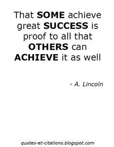 Quotes Et Citations: A. Lincoln