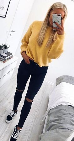 Winter Outfits For School, Trendy Fall Outfits, Casual Winter Outfits, Autumn Casual, Summer Outfits, Cute Outfits For Girls, Black Jeans Outfit Winter, Cute Simple Outfits, Cute Outfit Ideas For School