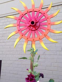 Sunburst sculpture available at Eclectic Arts; EArtsStudio.com